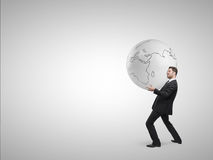 Man holding globe Royalty Free Stock Photo