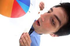 Man holding graphs Stock Image