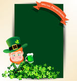 Man holding green beer juk for St Patrick s day party Royalty Free Stock Photos