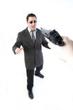 Man holding a gun Royalty Free Stock Photo