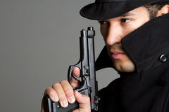 Man Holding Gun Royalty Free Stock Photos