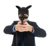 Man holding a gun Royalty Free Stock Photography