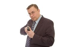 Man holding a gun Stock Photography
