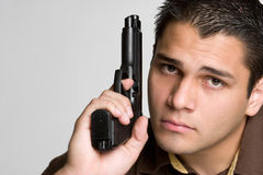 Man Holding Gun Royalty Free Stock Images