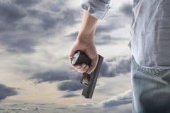 Man Holding Gun Stock Image