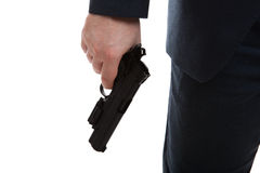 Man holding a gun Stock Photos
