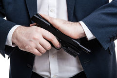 Man holding a gun Royalty Free Stock Image