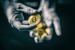 Symbol of crypto currency royalty free stock photography