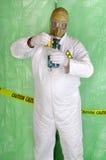 Man holding hazardous chemical Stock Photography
