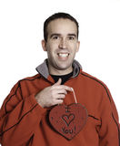 Man Holding Heart Royalty Free Stock Photo