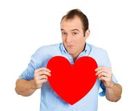 Man holding heart Royalty Free Stock Photography