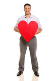 Man holding heart Stock Photo