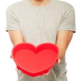 Man holding heart Royalty Free Stock Photo
