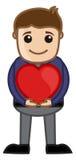 Man Holding Heart Vector Stock Photos