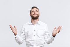 Man holding his arms out Royalty Free Stock Image