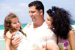 Man holding his daughter royalty free stock photography