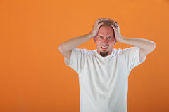 Man Holding His Head Royalty Free Stock Photo