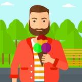 Man holding icecream. Royalty Free Stock Photography