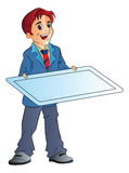 Man Holding an Illustration Board, illustration Stock Image