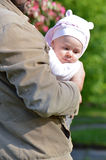 Man holding infant girl Stock Photos