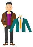 Man Holding Jacket Royalty Free Stock Image