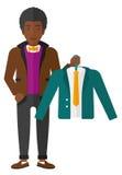 Man holding jacket Stock Image