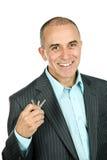 Man holding keys Stock Image