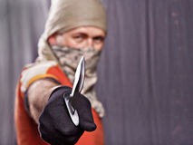 Man holding knife Royalty Free Stock Photos