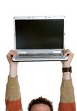 Man Holding Laptop Royalty Free Stock Photos