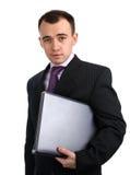 Man holding laptop computer Royalty Free Stock Image