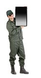 Man holding LCD screen. Stock Photography