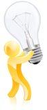 Man holding light bulb Royalty Free Stock Photos