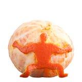 Man holding mandarin Royalty Free Stock Photo
