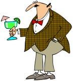 Man holding a Margarita. This illustration depicts a man holding a large Margarita royalty free illustration