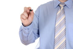 Man holding a marker Royalty Free Stock Photography