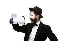 Man holding megaphone Royalty Free Stock Photo