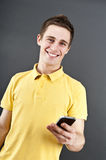 Man holding mobile phone Stock Photography