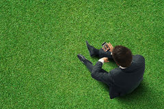 Man holding mobile phone Stock Image