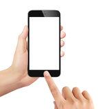 Man holding mobile smartphone Royalty Free Stock Photos