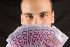 Man Holding Money Royalty Free Stock Photos