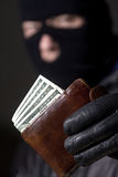 Man holding the money Stock Photos