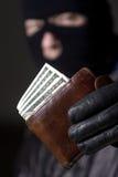Man holding the money Royalty Free Stock Image