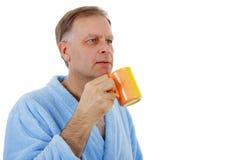 Man holding mug Stock Photography
