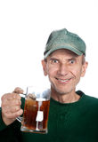 Man holding mug with tea Stock Photography
