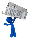 Man Holding New Home Above His Head Royalty Free Stock Image
