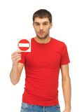 Man holding no entry sign Stock Photos