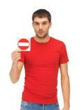 Man holding no entry sign Stock Photos