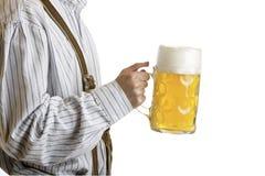 Man holding Oktoberfest beer stein Stock Photography