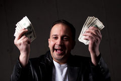 Man Holding Out Money Royalty Free Stock Photo