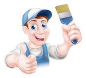 Man holding paintbrush Stock Photos